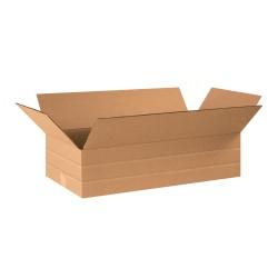 "Office Depot® Brand Multi-Depth Corrugated Cartons, 6"" x 24"" x 12"", Kraft, Pack Of 20"