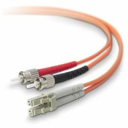 Belkin Duplex Fiber Optic Patch Cable - LC Male - ST Male - 49.21ft