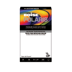 "Boise® POLARIS® Premium Color Copy Paper, Legal Size (8 1/2"" x 14""), 28 Lb, FSC® Certified, Ream Of 500 Sheets"