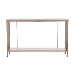 "Southern Enterprises Brexlyn Console Table, 29-1/2""H x 47-1/2""W x 11-3/4""D, Champagne"