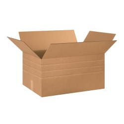 """Office Depot® Brand Multi-Depth Corrugated Cartons, 12"""" x 24"""" x 16"""", Pack Of 15"""