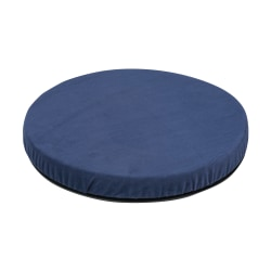 HealthSmart® Deluxe Swivel Seat Cushion, Velour, Navy Blue