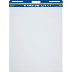The Present-It Easel Pads, Unruled, 25 Sheets, Carton Of 2