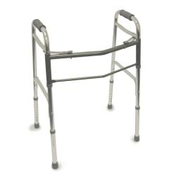 "DMI® Adjustable Aluminum Folding Walkers, 31"" - 38"" x 23"", Silver, Pack Of 2"