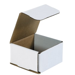 """Office Depot® Brand White Corrugated Mailers, 4 3/8"""" x 4 3/8"""" x 2 1/2"""", Pack Of 50"""