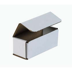 """Office Depot® Brand White Corrugated Mailers, 5"""" x 2"""" x 2"""", Pack Of 50"""