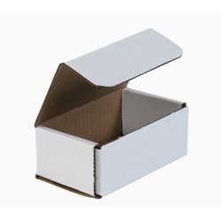 """Office Depot® Brand White Corrugated Mailers, 5"""" x 3"""" x 2"""", Pack Of 50"""