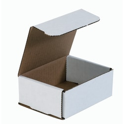 """Office Depot® Brand White Corrugated Mailers, 5"""" x 4"""" x 2"""", Pack Of 50"""