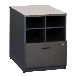 "Bush Business Furniture Office Advantage 24""W Lateral 2-Drawer File Cabinet, White Spectrum/Slate, Standard Delivery Service"