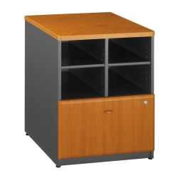 "Bush Business Furniture Office Advantage 24""W Lateral 2-Drawer File Cabinet, Natural Cherry/Slate, Standard Delivery Service"