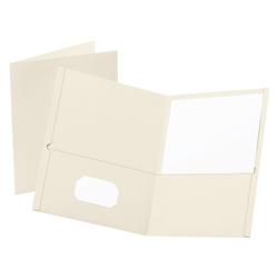 """Oxford™ Twin-Pocket Portfolios, 8 1/2"""" x 11"""", White, Pack Of 25"""