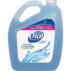 Dial Spring Water Scent Foaming Hand Wash - Spring Water Scent - 1 gal (3.8 L) - Kill Germs - Hand - Blue - Antimicrobial - 4 / Carton