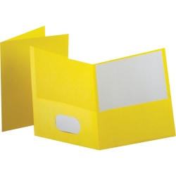 Esselte® Letter-Size Twin-Pocket Report Covers, Yellow, Box Of 25