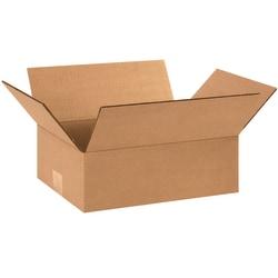 "Office Depot® Brand Flat Boxes, 12"" x 9"" x 4"", Kraft, Pack Of 25"