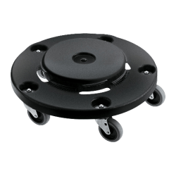 Rubbermaid® Brute® Twist-On/Off Round Dolly, Black