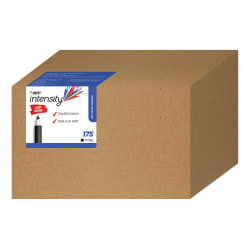BIC® Great Erase® Grip Dry-Erase Markers, Fine Point, Black Ink, Box of 175