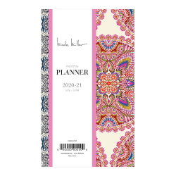 """Blue Sky™ Nicole Miller 18-Month Academic Planner, 3-5/8"""" x 6-1/8"""", Multicolor, July 2020 to June 2021, 120086"""