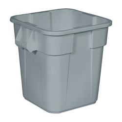 "Rubbermaid Commercial Square Brute Container - 28 gal Capacity - Square - 22.5"" Height x 21.5"" Width - Plastic - Gray"