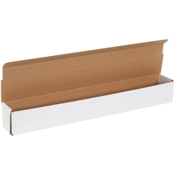 """Office Depot® Brand White Corrugated Mailers, 27 1/2"""" x 3 1/2"""" x 3 1/2"""", Pack Of 50"""