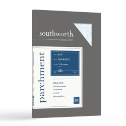 """Southworth® Parchment Specialty Paper, 8 1/2"""" x 11"""", 24 Lb, Blue, Pack Of 100"""