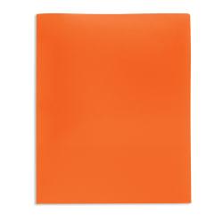 Office Depot® Brand 2-Pocket Poly Folder, Letter Size, Orange