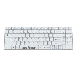 Seal Shield Clean Wipe Waterproof - Medical Grade - keyboard - with touchpad - USB - QWERTY - US - white