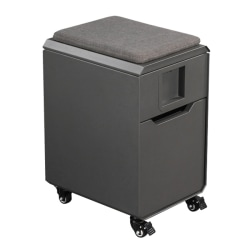 "Vari Locker Seat 16""D Vertical 1-Drawer Mobile Storage Cabinet, Metal, Gray, Standard Delivery"