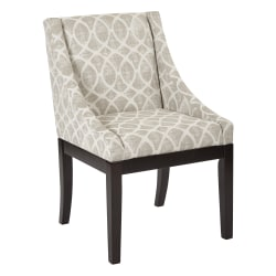 Ave Six Monarch Wingback Chair, Mist Geo Sand/Espresso