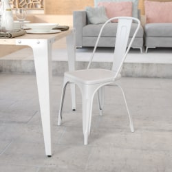 Flash Furniture Commercial Stackable Chair, White
