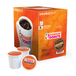 Dunkin' Donuts® Coffee Single-Serve K-Cup®, Original, 0.4 Oz, Carton Of 24
