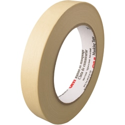"""3M™ 203 Masking Tape, 3"""" Core, 0.75"""" x 180', Natural, Pack Of 48"""