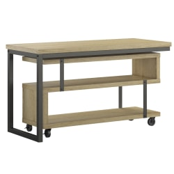 Ameriwood™ Home Ryker L-Shaped Swivel Desk, Brown Oak