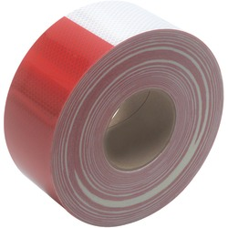 """3M™ 983 Reflective Tape, 3"""" Core, 3"""" x 50 Yd., Red/White"""