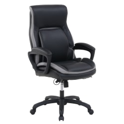 Shaquille O'Neal™ Amphion Bonded Leather High-Back Executive Chair, Black