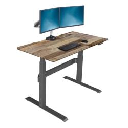 "VARIDESK ProDesk Electric Height-Adjustable Desk, 48""W, Reclaimed Wood"