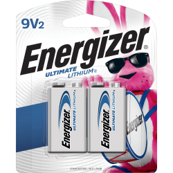 Energizer Ultimate Lithium 9V Battery - For Smoke Detector, Toy - 9V - Lithium (Li) - 24 / Carton