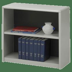 Safco® Value Mate® Steel Bookcase, 2 Shelves, Gray