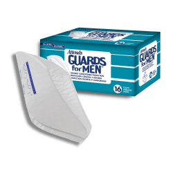 Attends® Guards for Men™, Unisize, Box Of 16