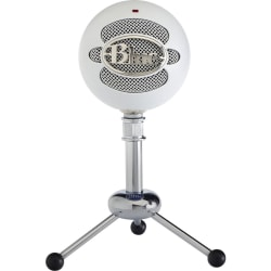 Blue Snowball Microphone - 40 Hz to 18 kHz - Wired - Condenser - Cardioid, Omni-directional - Stand Mountable - USB