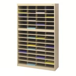 """Safco® E-Z Stor® Steel Literature Organizer, 60 Compartments, 60""""H, Tropic Sand"""