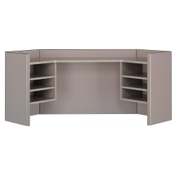 "Bush Business Furniture Office Advantage Corner Hutch 42""W, Pewter, Standard Delivery"