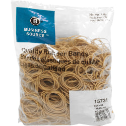 "Business Source Quality Rubber Bands - Size: #14 - 2"" Length x 0.1"" Width - Sustainable - 2250 / Pack - Rubber - Crepe"