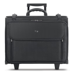 "Solo® Morgan 17"" Rolling Catalog Case, Black"