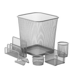Honey-Can-Do 6-Piece Mesh Desk Organizer Set, Silver