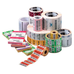 "Zebra Label Paper, U82588, 2"" x 1"" Direct Thermal Zebra Z™Perform 2000D, 1"" Core"