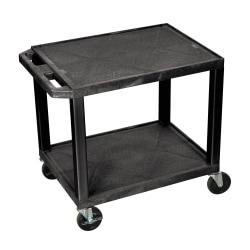 H Wilson 26 Plastic Utility Cart 26 H X 24 W X 18 D Black Office Depot