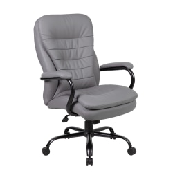 Boss CaressoftPlus™ Heavy-Duty Fabric High-Back Chair, Gray