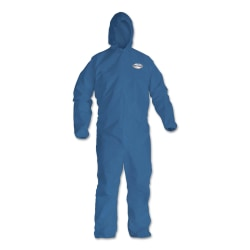 Kimberly-Clark® Professional KleenGuard A20 Microforce™ Particle Protection Coveralls, Zipper, XXXL, Blue, Pack Of 20 Coveralls