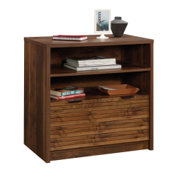 "Sauder® Harvey Park 31""W Lateral 1-Drawer File Cabinet, Grand Walnut"