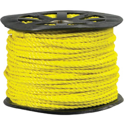 "Office Depot® Brand Twisted Polypropylene Rope, 3,800 Lb, 1/2"" x 600', Yellow"
